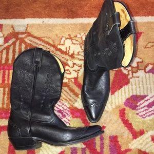 Ladies 7 1/2 Boulet black cowboy boots